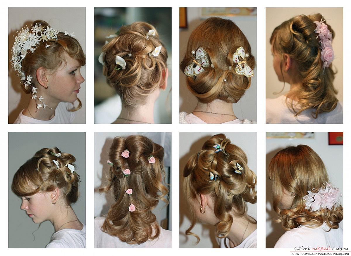 Какую сделать прическу на средние волосы фото на 1 сентября